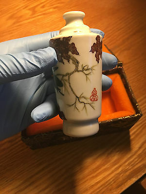 Antique Chinese Porcelain Snuff Bottle Qing Dynasty