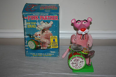 Pink Panther Battery Operated One Man Band Toy in Box by illco  (Not Working)