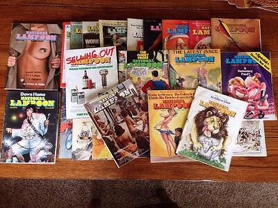 Lot Of Over 25 National Lampoon Magazines Vintage 70S
