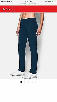 Under Armour Links Women's Golf Pants, Navy Blue, Size 12 Brand New