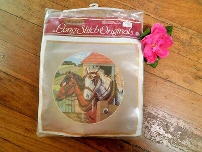 Semco Long Stitch Tapestry Kit Draught Horses 3300-3113 Complete Never Started