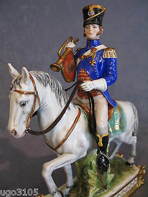 China Capodimonte Soldier OFFICIAL 1808 Guard on horseback Napoleonic