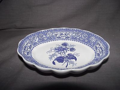 Spode Blue Room Collection Georgian Series Floral Small Oval Tray