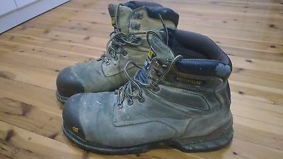 CAT Caterpillar Brakeman Steel Toe Work Safety Boots without Zip - USED