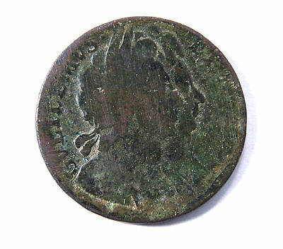1694 William & Mary UK Half Penny Copper Coin, 323 years old, Free Shipping