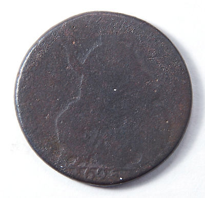 1695 William III UK Half Penny Copper Coin, 322 years old, Free Shipping