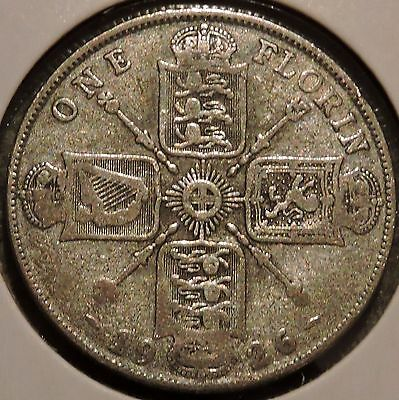 British Florin - 1926 - Big Silver Coin - $1 Unlimited Shipping