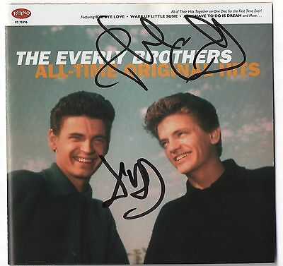 The Everly Brothers REAL hand SIGNED All-Time Hits CD by both Don & Phil JSA COA
