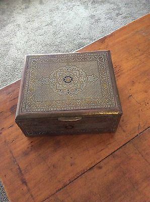 Antique Vintage Brass Box Detailed Top And All Sides Byzantium