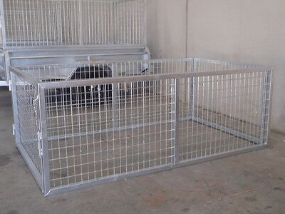 6x4 Trailer Cage 800mm High Galvanised With Front & Rear Opening Doors