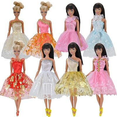 Fashion 3 Pcs Doll Clothes Wending Evening Dress Party Skirt For Barbie Dolls A