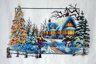 New completed cross stitch finished, Christmas coming, all handmade, great for