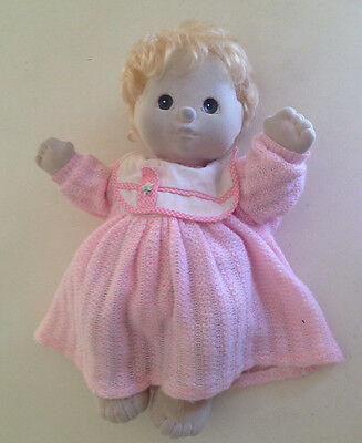 Mattel 1985 My Child Doll Blonde Brown Eyes Green Heart Tag