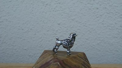"""Small .800 Solid Silver Italian Sterling 7grams Poodle Dog Miniature 1""""L Charm"""