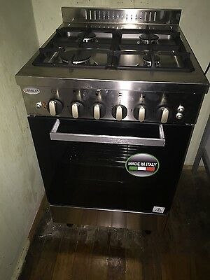 Emilia 60cm Made In Italy Freestanding Stainless Steel Gas/Electric Oven