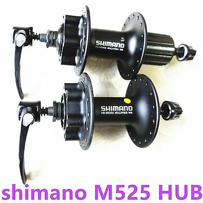 New Shimano Deore fh-M525A 32 Hole 6-Bolt Disc Hub QUICK RELEASE AXLE Rear/FRONT