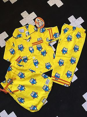 *CLEARANCE* NEW Licensed Giggle And Hoot Pyjamas 3pcs Pj Set Size 1