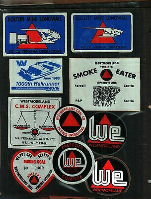 10 Different Nice Westmorland Coal Co. Coal Mining Stickers # 919