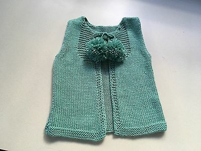 Baby Hand Knit Vest to fit 3-6 mths