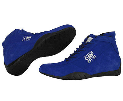 OMP OS 50 Driving Shoes - Size 9 Blue - SFI 3.3/5 Certified (SFI-5) IC792041090