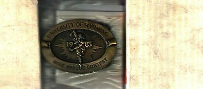 Really Nice 1985 University Wyoming Mine Rescue Contest Coal Mining Belt Buckle