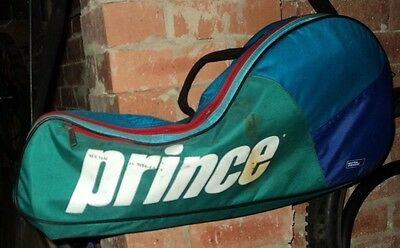 PRINCE - Tennis Racquet Bag with side pocket - easily holds 3x Racquets.
