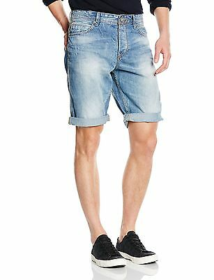 (TG. Small) TOM TAILOR Denim - relaxed blue denim bermuda/504, Jeans da (q4x)