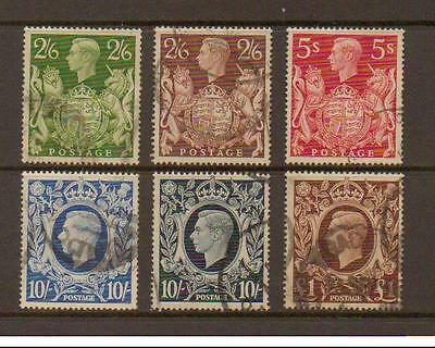 GB GVI Used 1938-48 HV Set SG476-478b Inc SG478