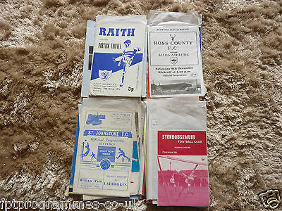 Scottish Teams Starting Raith - Sten Home Programmes  1966- 2005 Select Yours