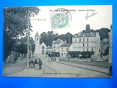 Cpa   Bry Sur Marne-Entree Du Pays-Animee