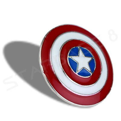 CAPTAIN AMERICA SHIELD PIN ANSTECKER - MARVEL UNIVERSE (Portofrei ab 3 Artikel)