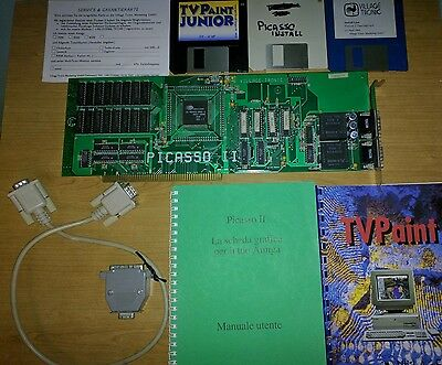 BOXED Picasso II RTG Graphic Card for Amiga 2000 3000 4000 - TESTED and WORKING