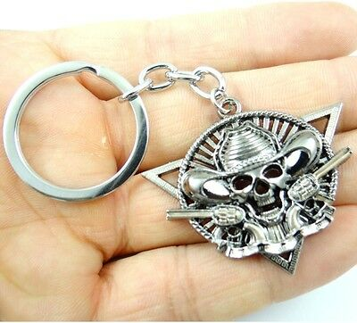 Creative Key Chain Ring Keyring alloy Keychain Gift Tool Skull head Pendant D9