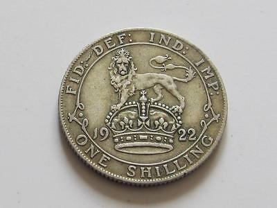 George V silver Shilling 1922 - Good filler/collectable coin