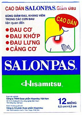 Salonpas Pain Relieving Patch Hisamitsu -  7 Boxes 84 Patches - Free Shipping