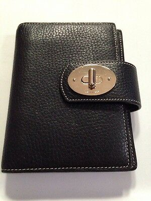 Kate Spade Day Planner Black Pebbled Leather Free Ship!