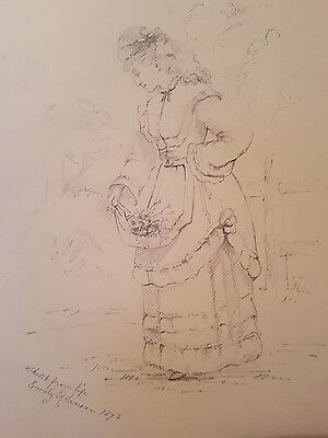 Pencil drawing - sketch from life Emily Robinson 1872