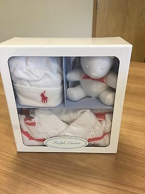 ralph lauren baby girl 6 months New And  Sealed Gift Set Box