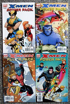 X-Men And Power Pack #1,2,3,4 of 4 (Marvel, 2005, Complete Set) VF
