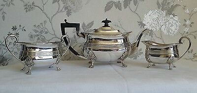 A Lovely Vintage 3 Piece Silver Plated Tea Service by Martin Hall & Co