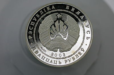 Belarus 20 Roubles 2003 Silver Proof A66 Zy26