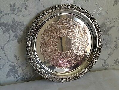 A Large Vintage Silver Plated Tray