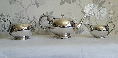 A Vintage 3 Piece Silver Plated Tea Service,  Wearwell