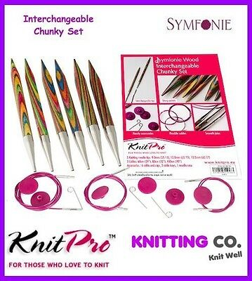 KnitPro Symfonie Wood IC Circular Knitting Needles - Chunky Set Knit Pro