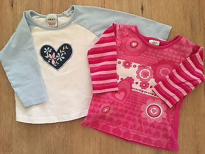 Next And Target Baby Girl Long Sleeve Shirts Size 3-6 Months EUC