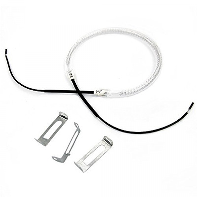 UNIVERSAL HALOGEN OVEN COOKER HEATING ELEMENT BULB with 3x Clips (1200/1400w) -