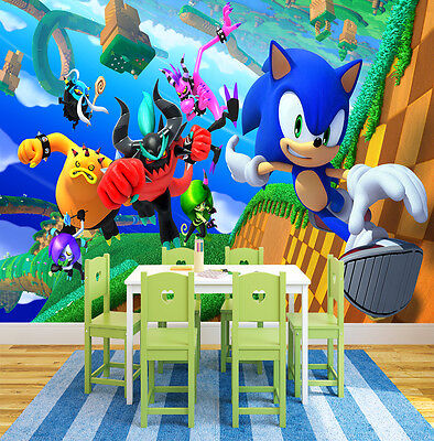 HQ Wall Mural Sonic Games  Photo Wallpaper Kids Children Room 121