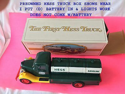 The First Hess Truck (Gasoline Tanker) - Preowned Box Shows Wear Lights Work