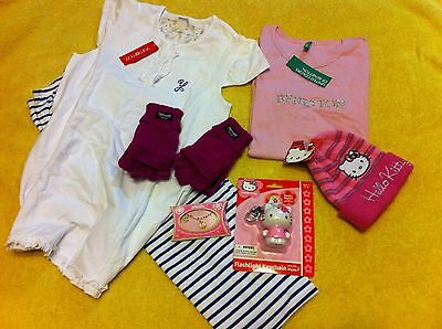 4 Lotto / Stock Bambina 12-14 Anni HELLO KITTY BENETTON NUOVO