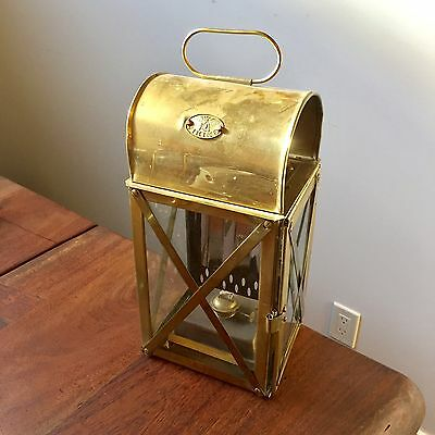 Vintage Viking Brass Hanging Or Wall Mount nautical Ship Maritime Oil Lantern